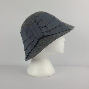 Le Chateau Grey Wool Bow Hat